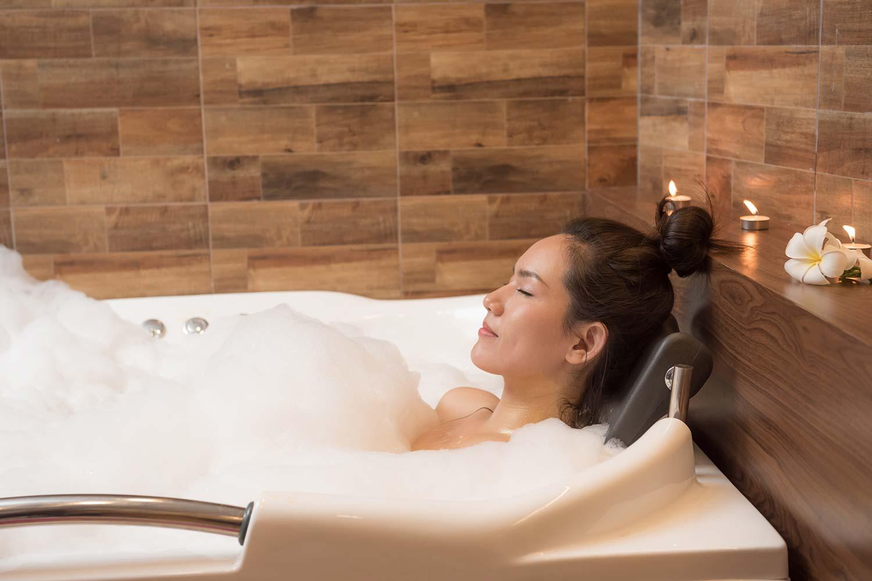 Bath oil to help you sleep better