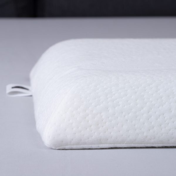 Memory foam pillow for belly sleepers